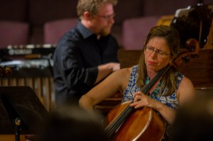 Aron Kallay (piano) and Maggie Parkins (cello)
